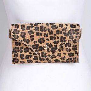NWT Leopard Print Pink Haley Fanny Pack Waist Bag